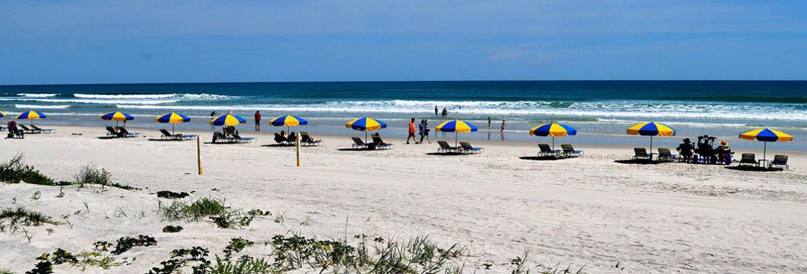 beach umbrellas on Daytons Beach